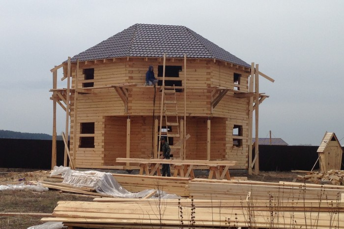 Дом 140 м² из бруса в Красном яру