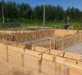 Строительство фундамента для двухэтажного коттеджа