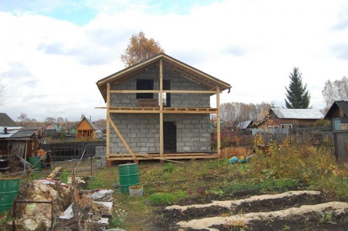 Дачный дом из пенобетона