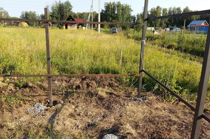 Забор в п. Ярково