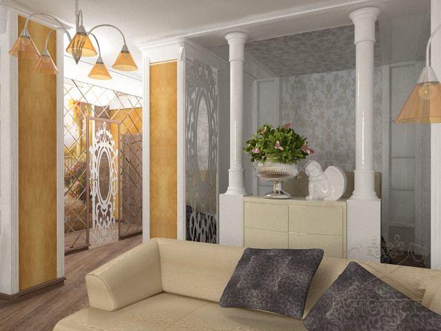 Однокомнатная квартира на ул. Мичурина (дизайн)