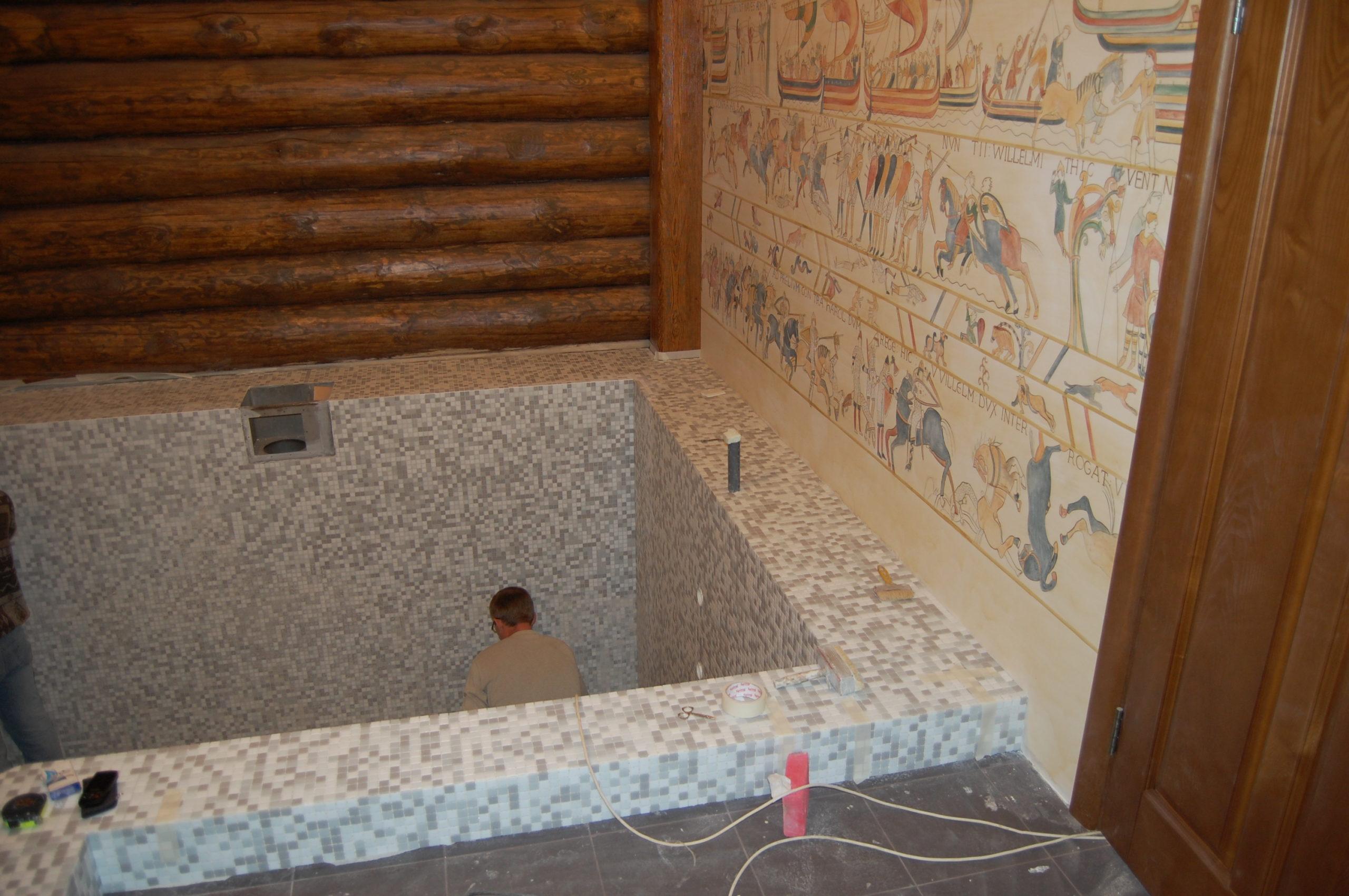 Бассейн в частной бане (22)