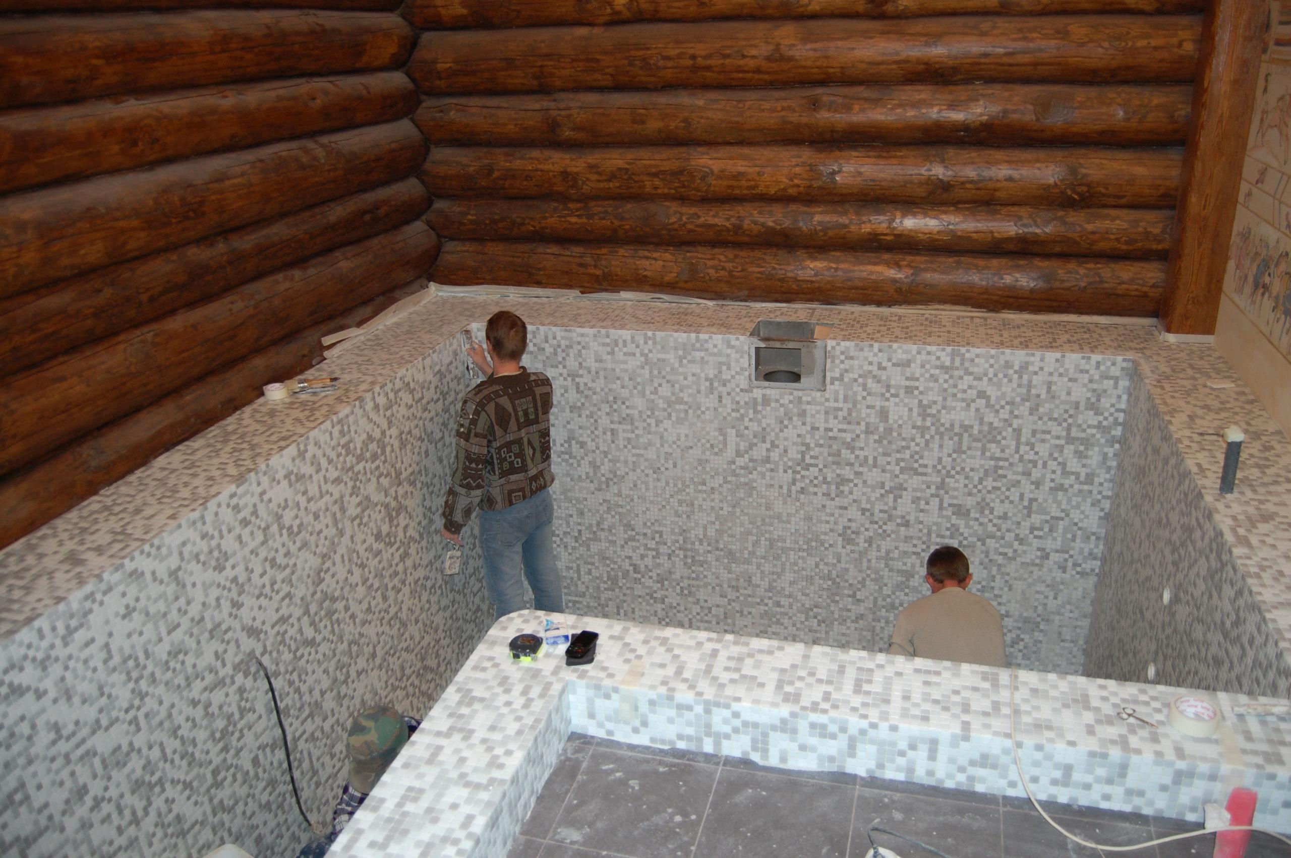 Бассейн в частной бане (24)